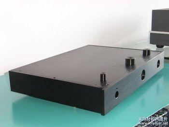 שחור מלא אלומיניום מארז מגבר צינור מגבר מארז אחורי מארז מגבר מארז DIY תיבת (435*60 * 310mm)|מגבר|מוצרי אלקטרוניקה לצרכנים -