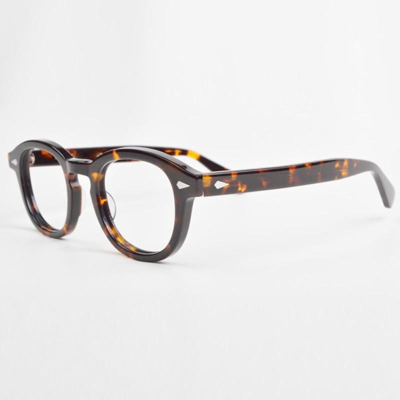 Optiniai akinių rėmeliai vyrams su dėžutėmis ir dėklu Kompiuterio Johnny Depp Vintage akinių rėmelis vyrams permatomiems objektyvams YQ080