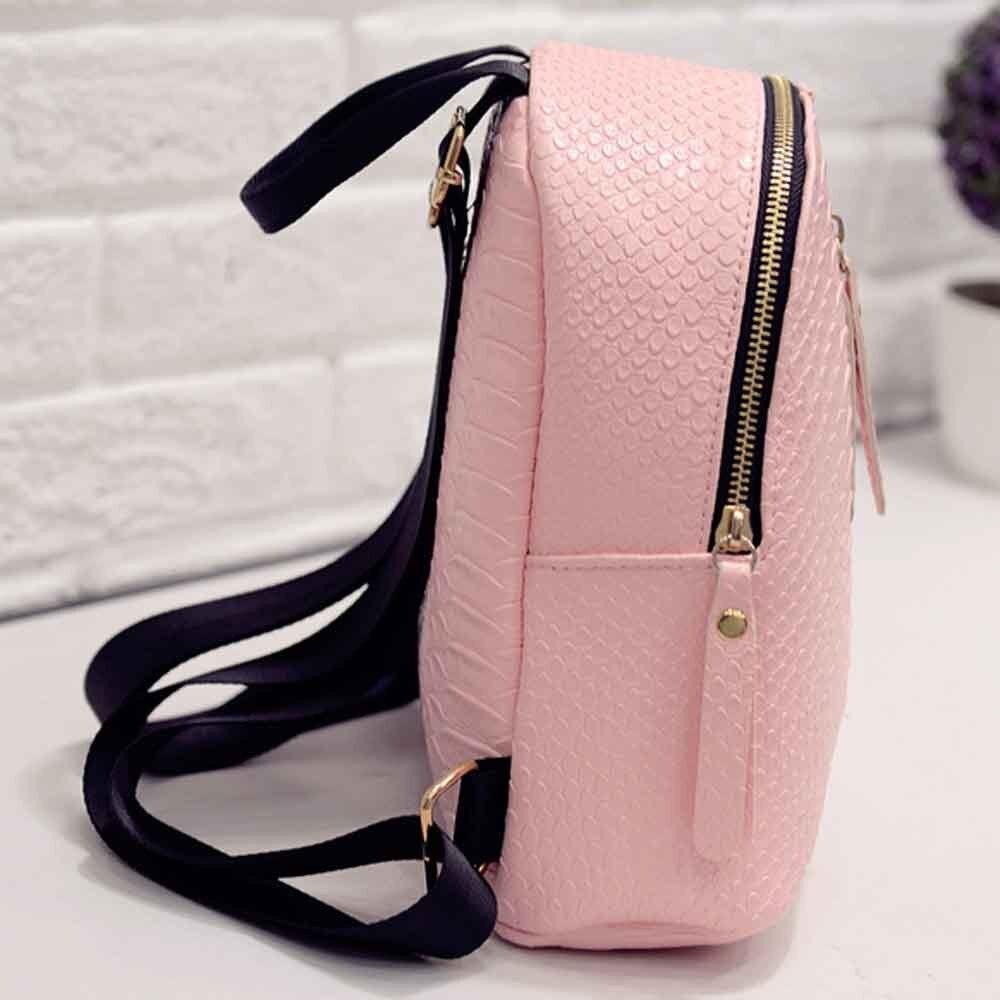 Women Anti Theft Leather Backpack Women Mini Backpacks Female Travel Backpack for Girls School Backpacks Ladies Black Bag #YY 5