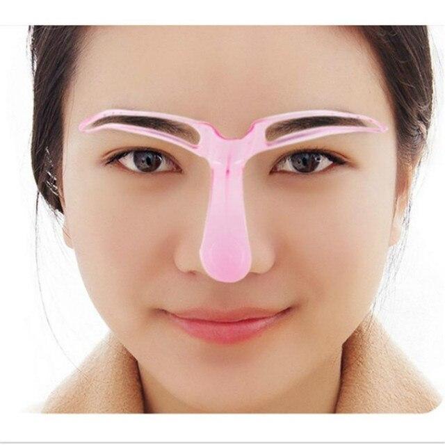 Fashion Women  Eyebrow Stencils Shaping Grooming Eye Brow Make Up Template Reusable Design Beauty Tools 2
