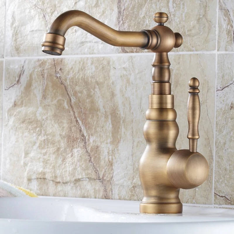 BAKALA nowy projekt Antique bronze mosiężny mieszacz z kranu łazienka umywalka kran zlew z kranu kran, wanna mixer GZ 8102 w Baterie umywalkowe od Majsterkowanie na AliExpress - 11.11_Double 11Singles' Day 1