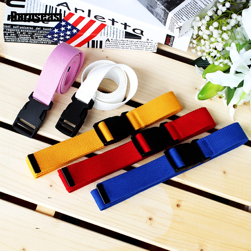 Trousers Belt nylon Canvas women's belt Plastic buckle   Canvas   Harajuku Solid Color Elastic Korean Style Tactical belt