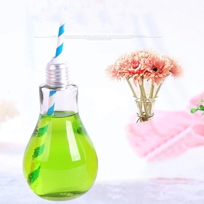 Творческий бутылка-светильник Стекло чашки лампочка воды Посуда для напитков бесплатный напиток контейнеры