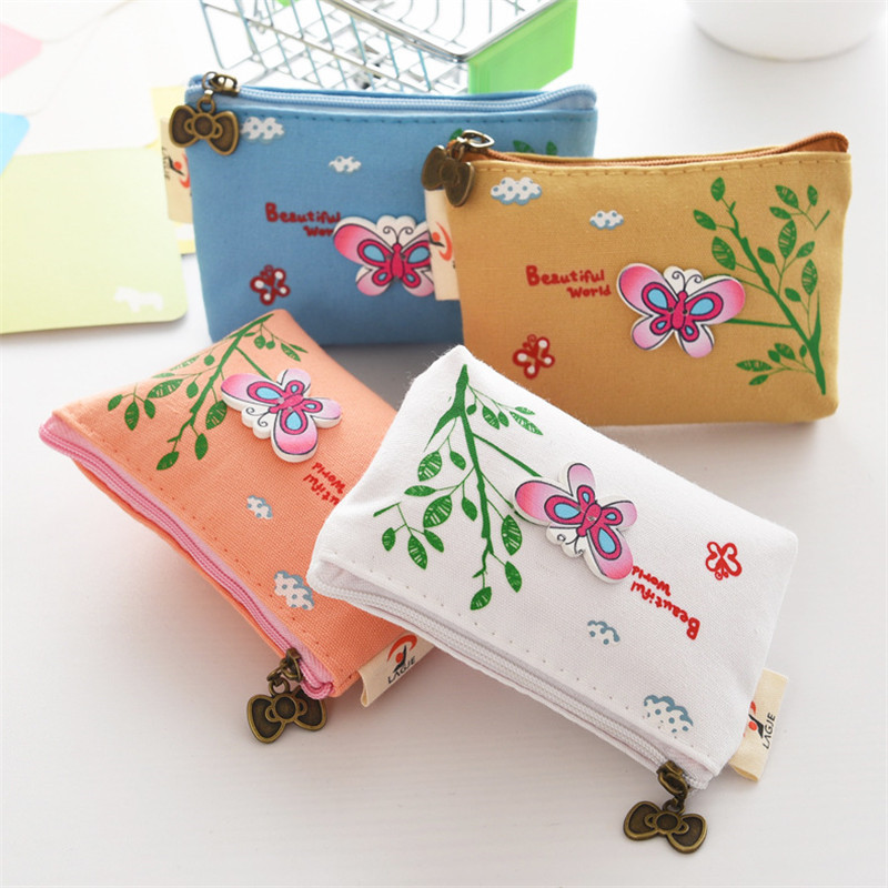 Cute Butterfly Student Coin Purse Chinese Style Children Canvas Zip Change Mini Purse Women Wallet Animal Key Card Bag Kids Gift cute butterfly student coin purse chinese style children canvas zip change mini purse women wallet animal key card bag kids gift
