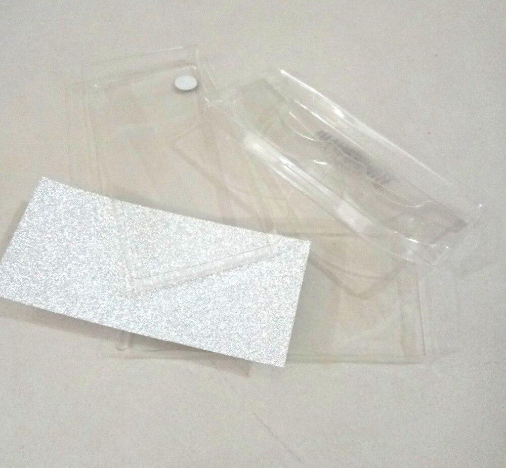 20set/lot Square Packing box for eyelash blank eyelashes plastic package all transparent lid tray Eyelashes DIY soft packing box(China)