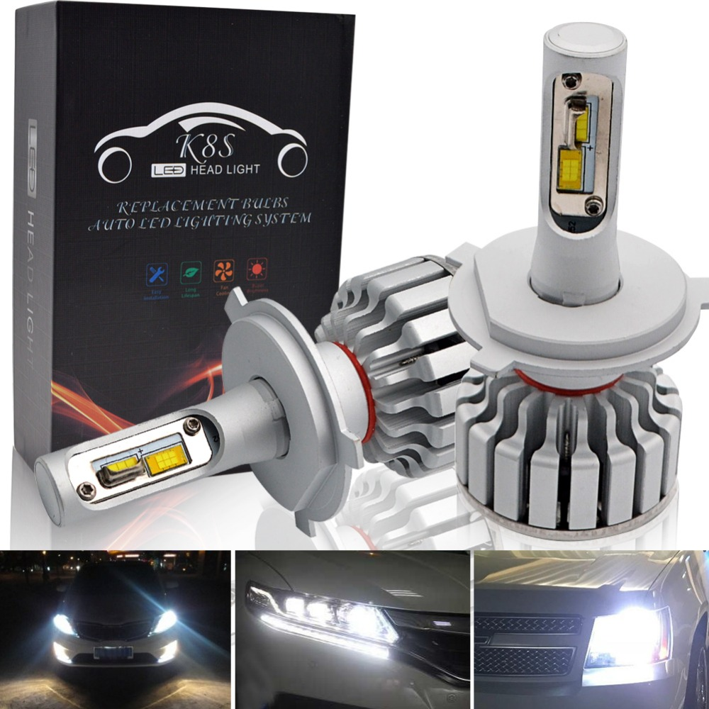 Safego New H4 High/Low Beam H7 H8 H9 H11 9005 LED Headlight Bulbs All-in-One High Quality Conversion Kit 25W 2500Lm 6000K-6500K