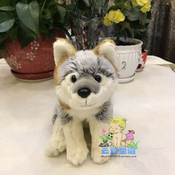 Stuffed Toys Children Birthday Gifts Simulation Wild Coyote Doll Plush Animals Wolf Dolls Toy Shops stuffed animals pony zebra doll plush simulation horse toy children gifts toys home decoration