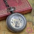 Купон для оптовой цены покупатель хорошее качество ретро человек моды серебряный увеличительное чтение стекла античный механические карманные часы