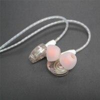 DIY MMCX Kabel SE215 Kopfhörer Stereo Bass HIFI Kopfhörer Earbuds Ersatz Weichen Versilberung Linie für Shure SE535 SE846