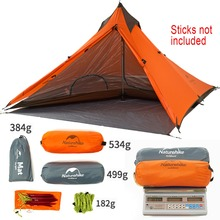 Naturehike Pyramid Ultralight No Poles 1 Person 3 Season Camping Tent