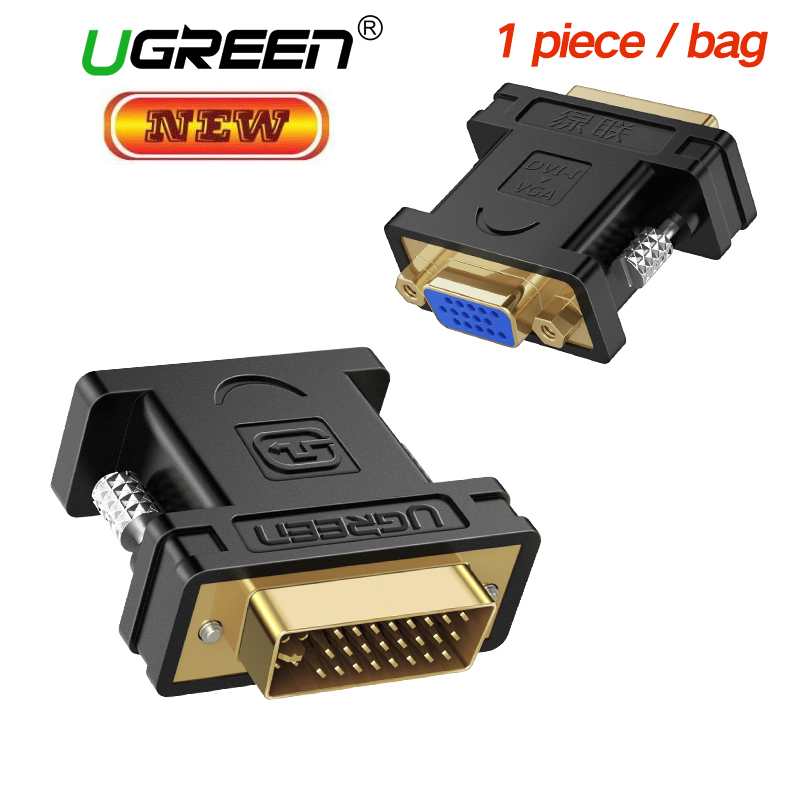 Ugreen 1080P DVI 24+5 Male to VGA Female Converter DVI i to VGA adapter Gold plated DVI Convertor for Computer PC Host Laptop ruiming патч корд dvi к vga dvi 24 1 к vga