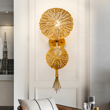 New creative modern iron hollow Nordic wall light gold living room aisle corridor bedroom stairs lamp