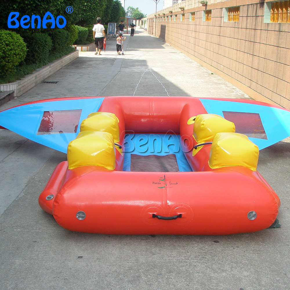 B022  BenAoFree shipping+blower  Inflatable Flying Fish/flyfish,ocean/lake/river/sea/water floating banana boat for sale commercial sea inflatable blue water slide with pool and arch for kids