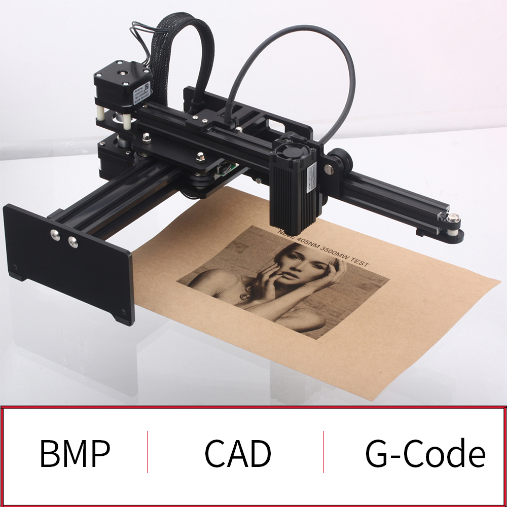 Portable 3500mw Laser Engraving Machine Desktop Laser Engraver with Protective Glasses DIY Mini Carver Carving Machine Printer in Wood Routers from Tools
