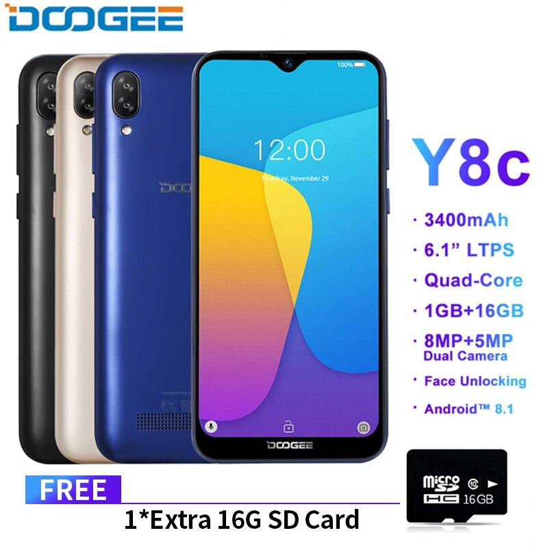 DOOGEE Y8c Android 8.1 6.1inch 19:9 Waterdrop LTPS Screen Smartphone MTK6580 1GB RAM 16GB ROM 3400mAh Dual SIM 8MP+5MP WCDMA NEWDOOGEE Y8c Android 8.1 6.1inch 19:9 Waterdrop LTPS Screen Smartphone MTK6580 1GB RAM 16GB ROM 3400mAh Dual SIM 8MP+5MP WCDMA NEW