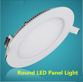 20pcs  Dimmable Led Panel Light 3W 4W 6W 9W 12W 15W18W 25W Round Shape With Power Adapter AC110-220V Ulthra thin