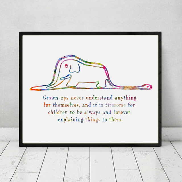 Aliexpresscom Buy The Little Prince Boa And Elephant Quote - home decor quotes on wall
