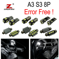 14pc X Canbus Error Free For Audi A3 S3 8P LED Interior Light Kit Package 2006