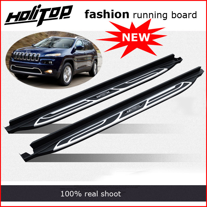 running board side step bar for Jeep Cherokee 2014 2015 2016 2017 2018 three choices supplied