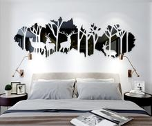 Nordic style forest deer shadow wall decoration sticker home decals living room