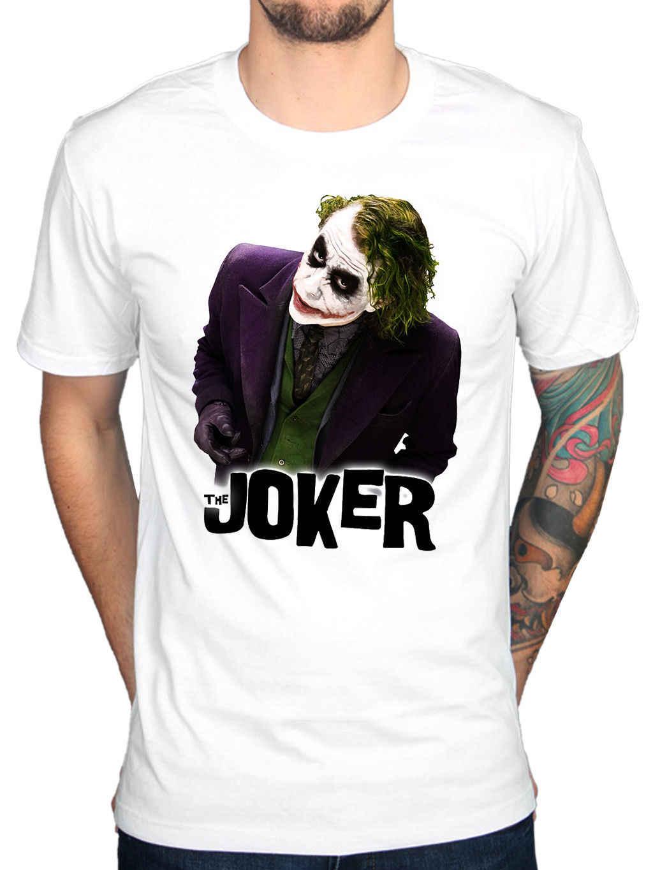 Официальный Джокер Бэтмен супергерой Хит Леджер Темный Рыцарь футболка с героем комикса