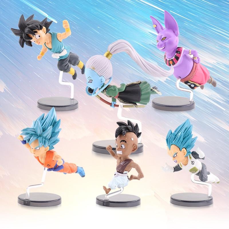 3 Style Anime Mini Figurine Dragon Ball Z Son Gohan Action Collectible Model 6pcs set Action