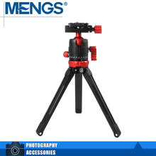 MENGS TP-11 Mini Aluminum Alloy Desk Tripod With 360 Degree Panoramic Shooting Ball Head(Ball Diamater 28mm) – Red (14100001601)
