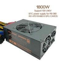 Brand new 1800W Mining power Supply 24pin 100V 240V R9 380/390 RX 470/480 RX 570 for BTC ETC ZEC