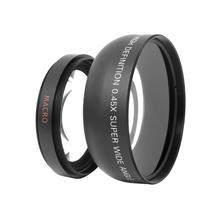 Wholesale 55mm 0.45X Universal Digital Wide Angle Camera Lens Macro Conversion Lens with 2 Lens Caps For Canon DSLR DC Camera