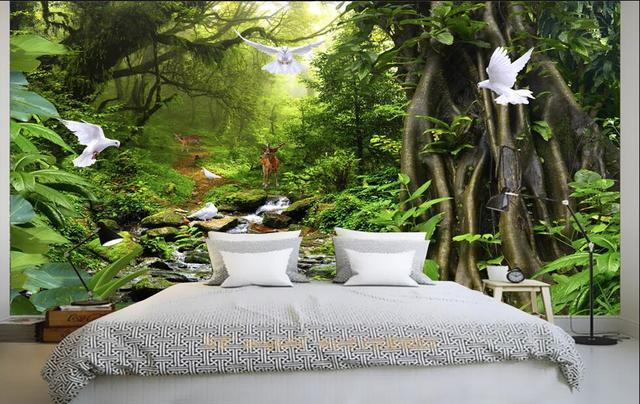 Acheter 3d chambre papier peint - Plante verte pour chambre ...