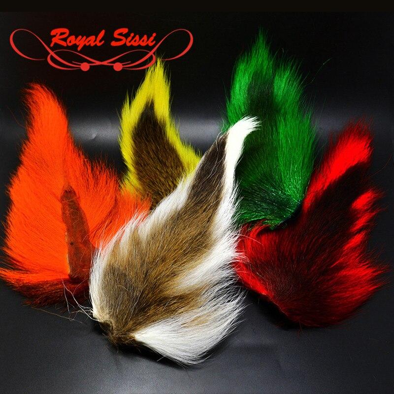 5 farben GROßE NÖRDLICHEN BUCKTAILs fliegenbinden materialien langen strang gefärbt bucktail haar für lange streamer deceivers clousers jigs