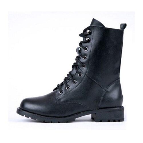 FEDI Women Ankle Booties Lace Up Cowboy Fashion Dress Shoes Black