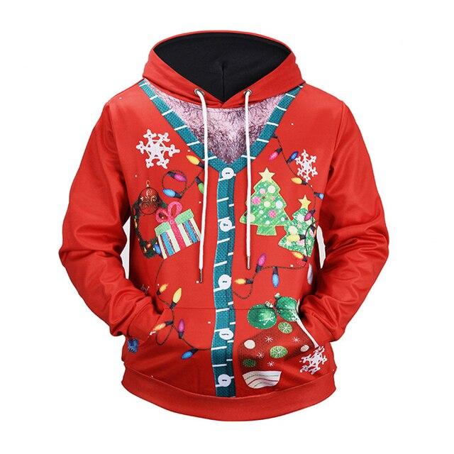 New creative Christmas lights fashion 3d print hoodies sudadera hombre hip hop casual streetwear Harajuku long sleeve vetements