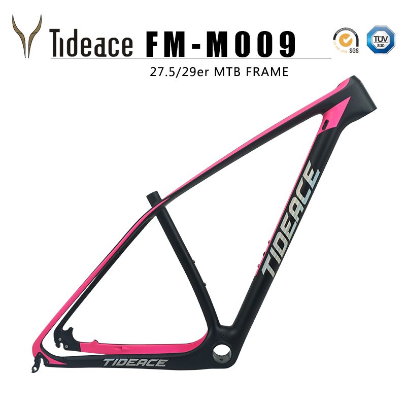 Tideace Cutomized Mountain Bike Frame 29er Chinese Mtb Bicycle Frame T1000 Carbon Fiber Bike Frame Mtb 27.5er/29er
