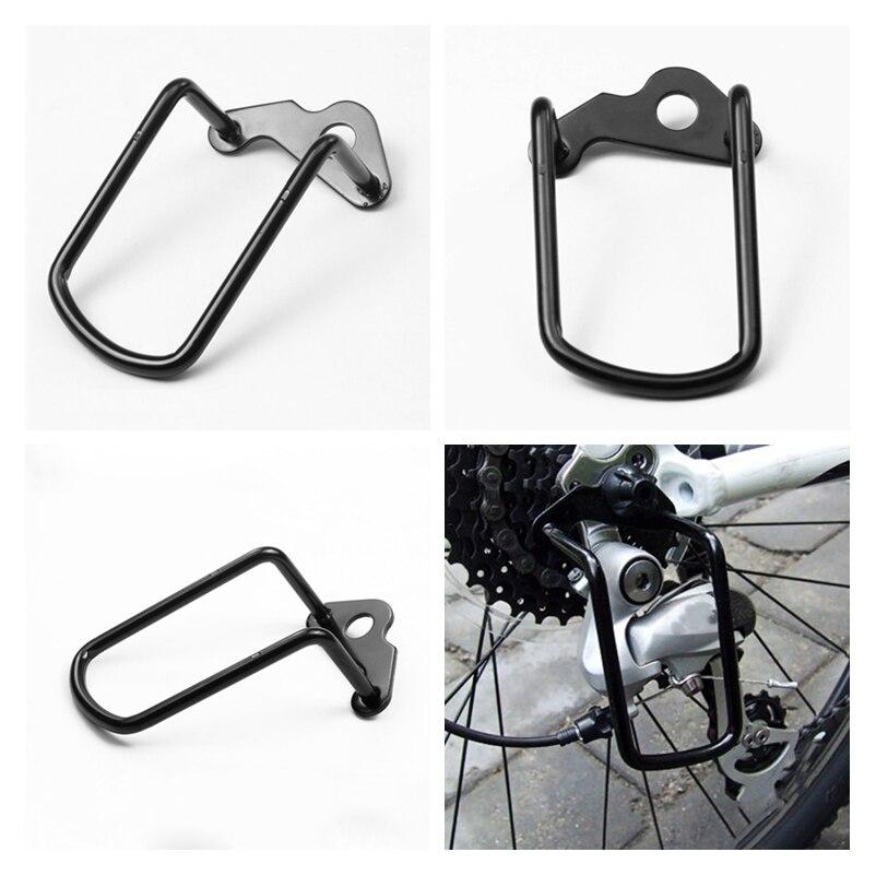 1 pièces réglable en acier noir vélo VTT dérailleur à engrenages arrière chaîne garde garde protecteur accessoires de cyclisme en plein air