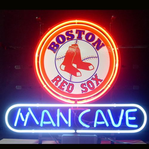 NEON SIGN board For MLB BOSTON RED SOX BASEBALL MAN CAVE
