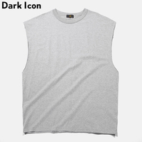 Washing Material Solid Color Men S Tank Top 2018 Summer Streetwear Oversized Blank Tank Top Plain