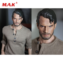 New 1:6 Scale Henry Carver Superman Man in Steel with Beard fit 12 Action Figure for Collection as Gift
