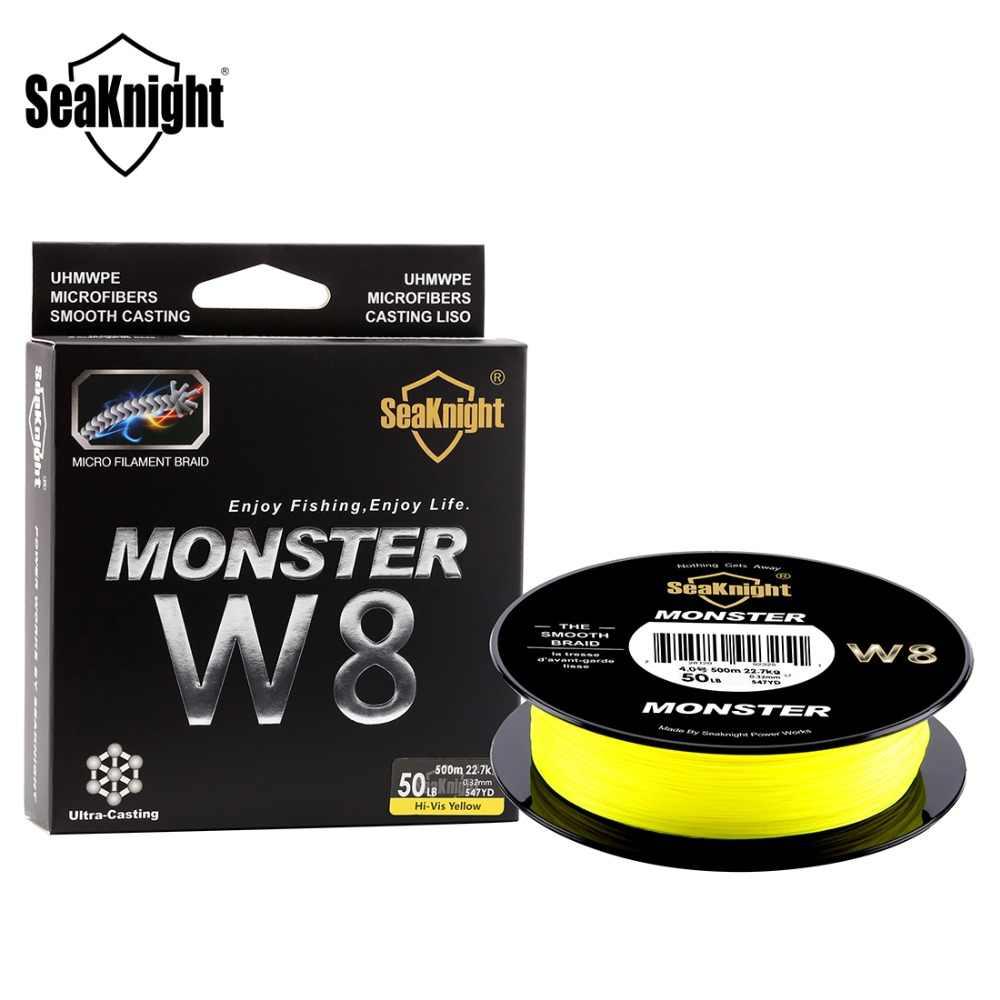 SeaKnight 500M / 546YDS MS Series W8 líneas de pesca trenzadas 8 ondas de alambre suave PE línea multifilamento para la pesca en el mar 20-100LB