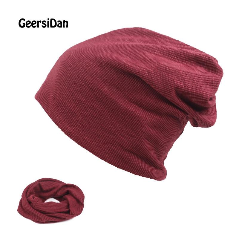 GEERSIDAN Autumn Winter cotton Hedging Cap Men Women Skullies Beanies fashion Knitting Caps Bonnet Double Layer Thin Cotton Hat