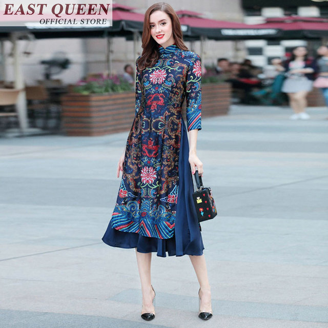 66eb9f85e7 Online chinese store traditional chinese clothing for femme casual loose  plus size tunic women's gown robe summer 2018 FF282 A