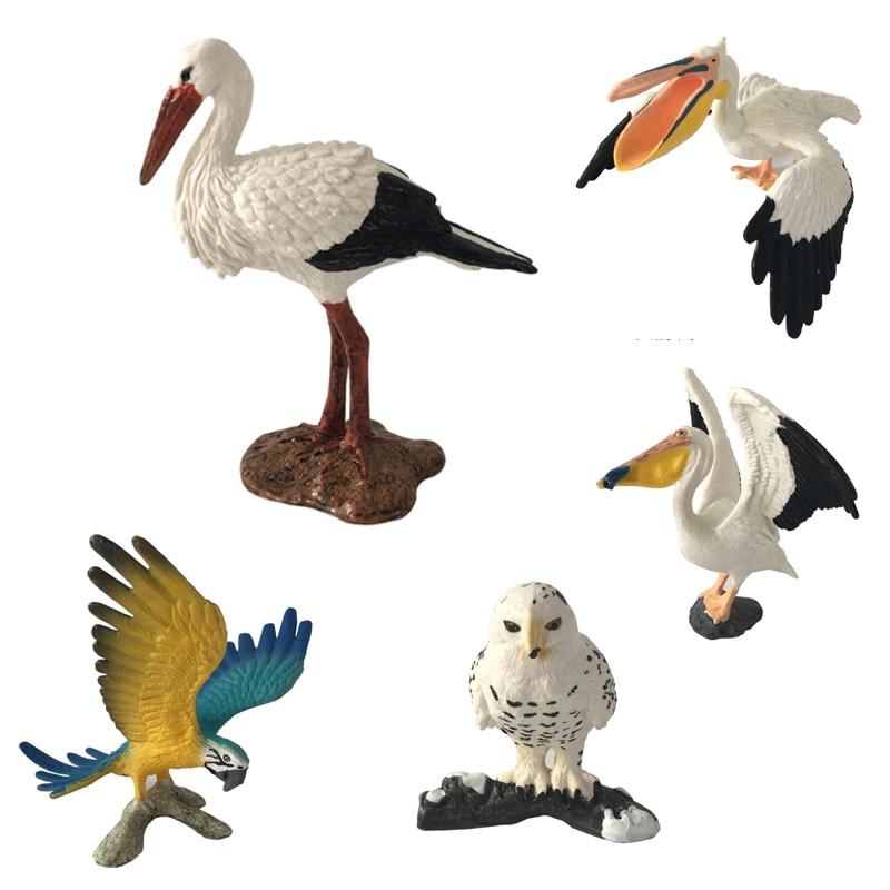 ZXZ летающие игрушки Пластик моделирование модели Фламинговые psittaciformes животных модель фигурку игрушки Коллекция украшения