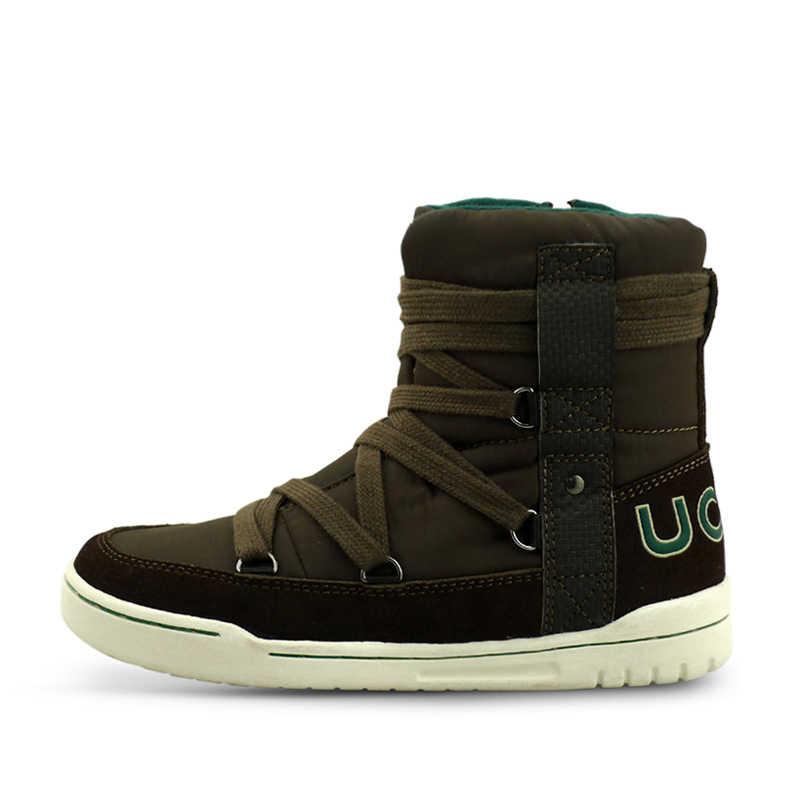 UOVO 2018 新冬傘生地子供ブーツ、暖かい女の子のブーツ、綿子供の靴はクリスマス、サイズ 28-41