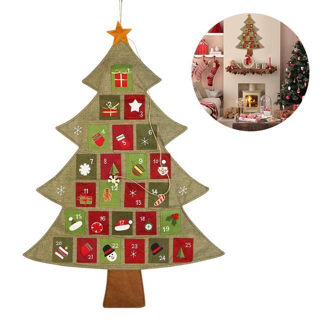 hanging christmas advent calendar countdown to christmas tree 2018 new year decor door wall hanging calendars