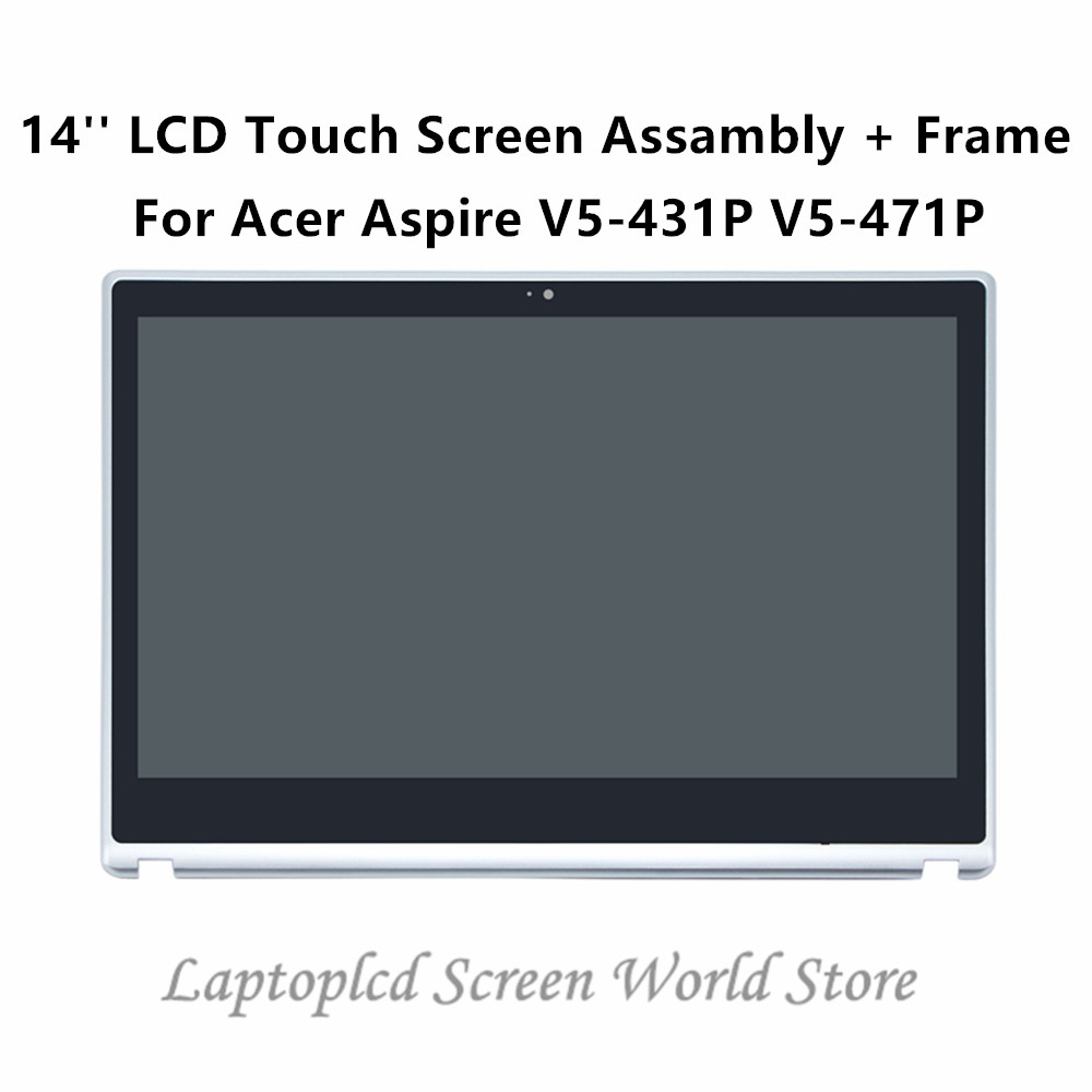 FTDLCD 14 LCD Touch Screen Digitizer Laptop Assembly Frame N140BGE EA2 For font b Acer b