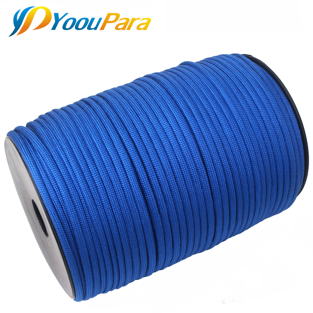 Wholesale 100m Spools Paracord 550 Rope Parachute Cord Lanyard 7 Strand Outdoor Camping Survival Emergency Paracord