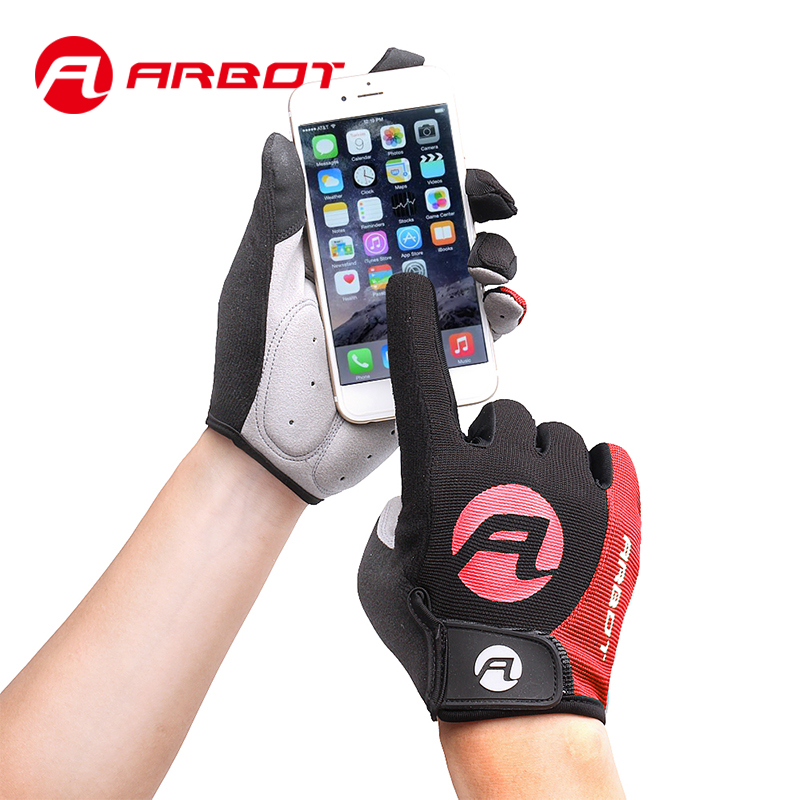 цена на ARBOT Outdoor Sports Cycling Gloves Full Finger Bicycle Gloves Anti Slip Motorcycle MTB Road Bike Gloves Women Men