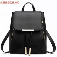 Assez Sac Women Backpacks Pu Leather Travel Bags High Quality Women School Backpacks Ladies Bolsas Hiking