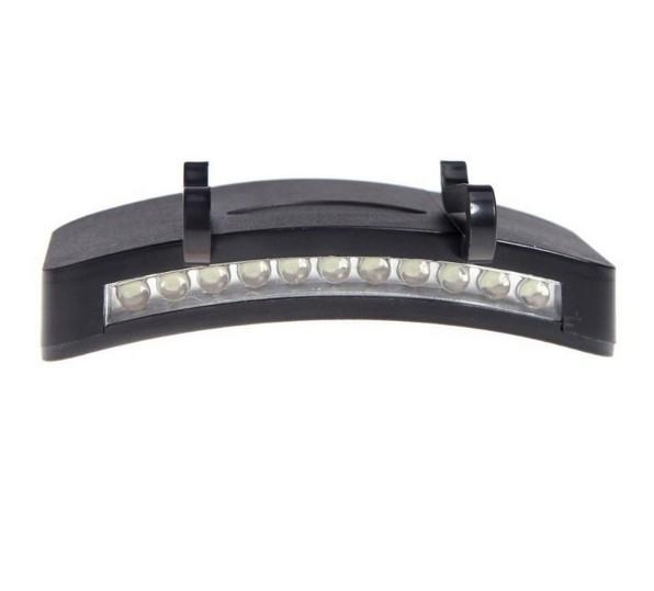 Lumiparty Outdoor Cycling Headlight Black 11 LEDs Hat Cap Clip Lamp Emergency Light
