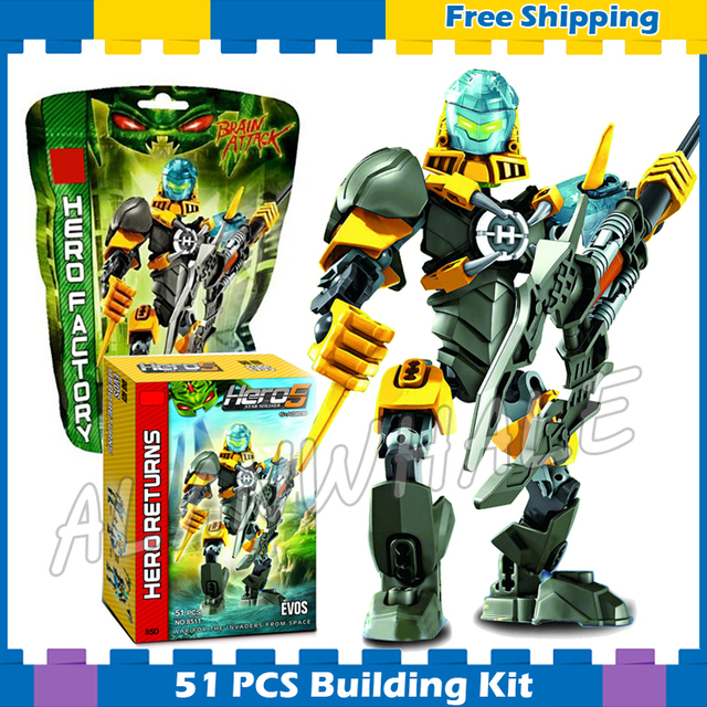 51pcs Bela Hero Factory Series Brain Attack EVO Bionicle Model ...